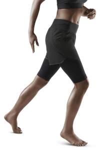 Base Shorts schwarz CEP Damen Kompressionshose Sporthose Dynamic