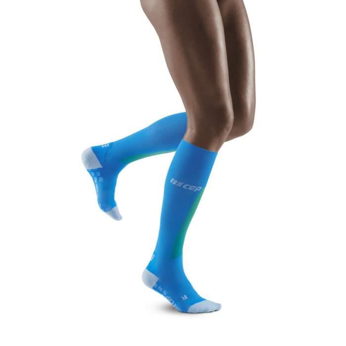 CEP ultralight socks electric blue//light grey women III
