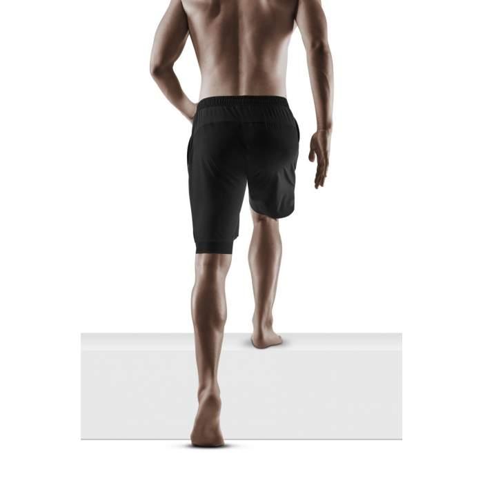 Vertvie Homme 2-in-1 Short de Sport Compression avec Slip Short de Course S/échage Rapide Pantalon Court Leggings de Sport Poche Base Layer Stretch Fitness